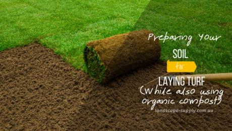 raking soil before laying turf